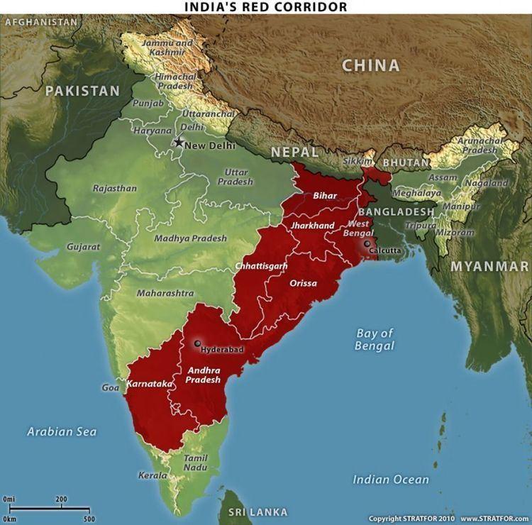 Red corridor India39s Red Corridor Stratfor