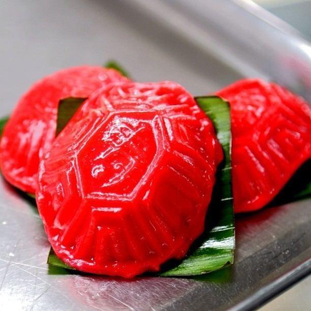 Red tortoise cake Lek Lim Nonya Cake Confectionery Singapore Burpple