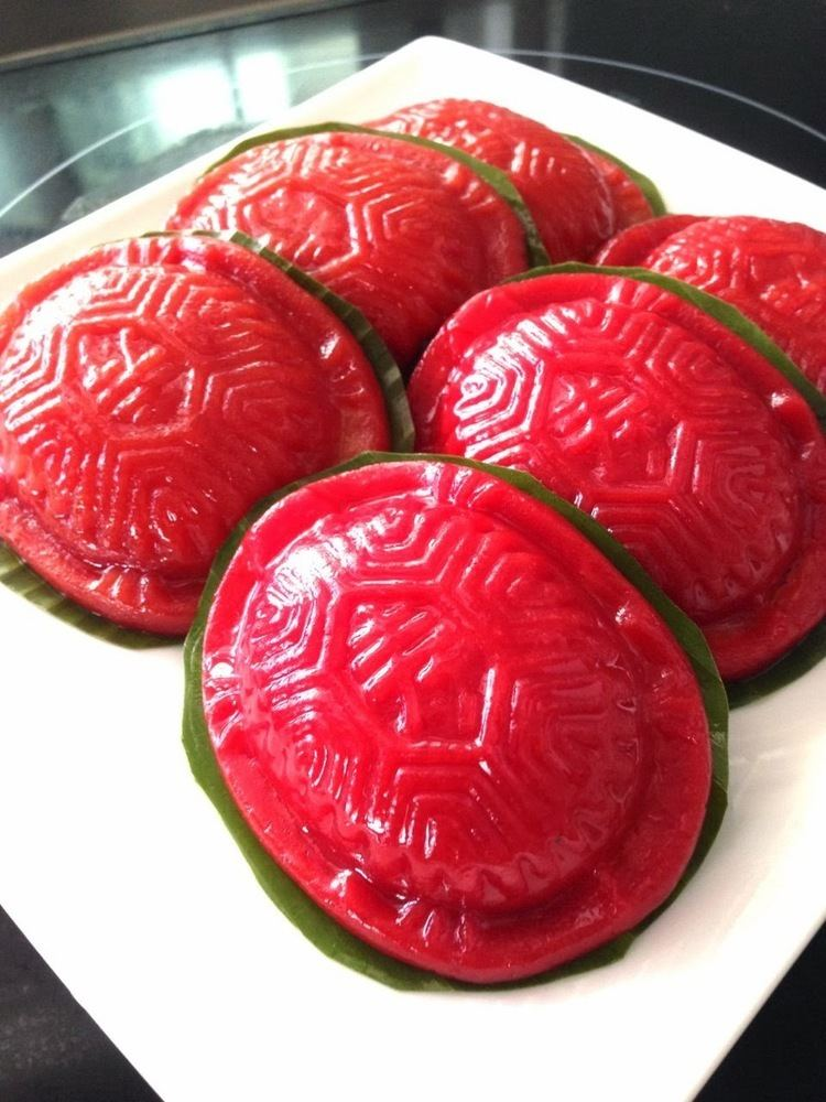 Red tortoise cake Baking Diary Angku Red Tortoise Steamed cake with beet gluten free