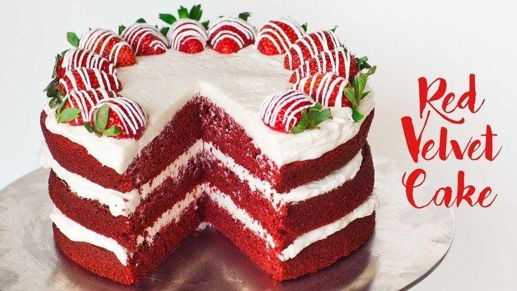 Red velvet cake Red Velvet Cake YouTube