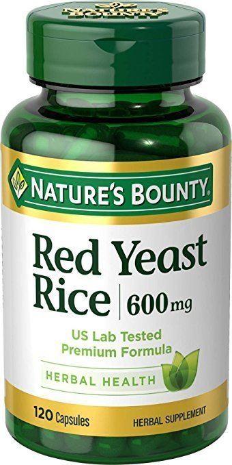 Red yeast rice Amazoncom Nature39s Bounty Red Yeast Rice 600 mg 120 Capsules