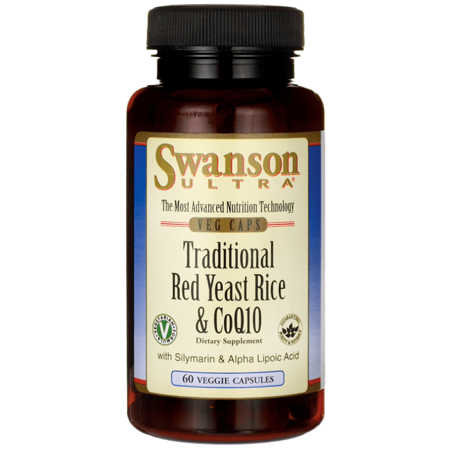 Red yeast rice Swanson Ultra Traditional Red Yeast Rice amp CoQ10 60 Veg Caps
