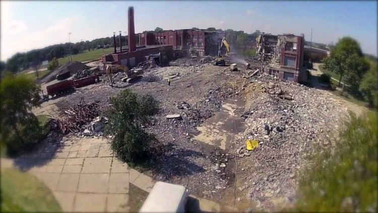 Redford High School Detroit Redford High School Demolition Meijer Aerial Video YouTube