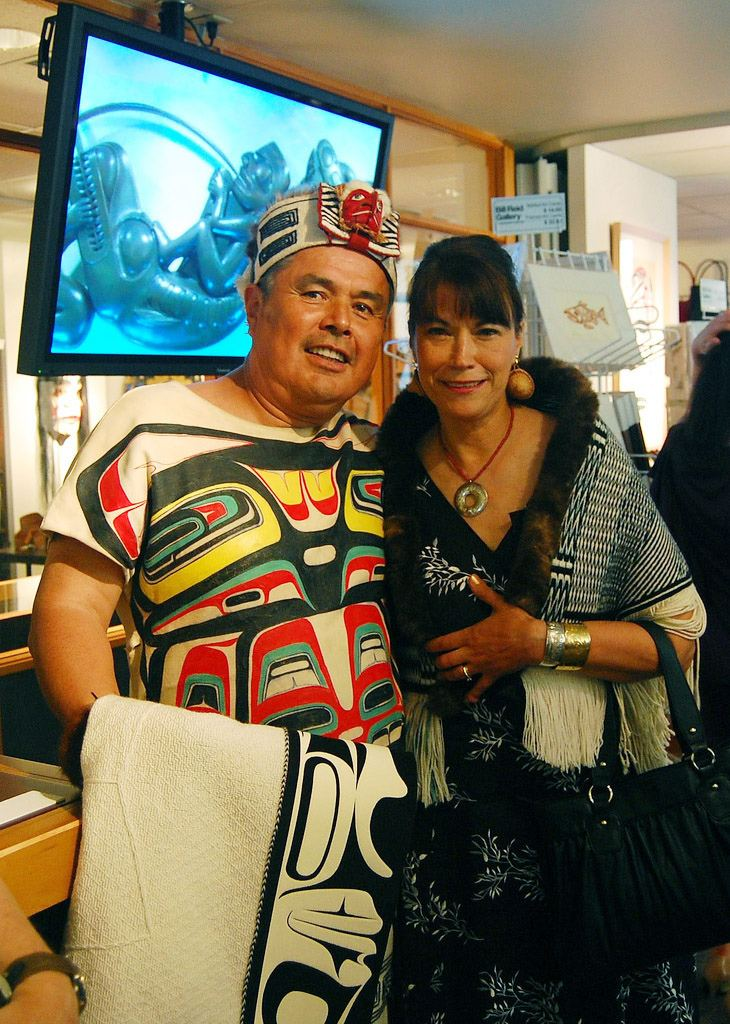 Reg Davidson Haida artists Reg Davidson and Evelyn Vanderhoop Flickr