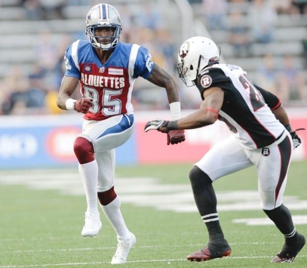 Reggie Jones (wide receiver) With Reggie Jones of the Ottawa Redblacks defending Montreal