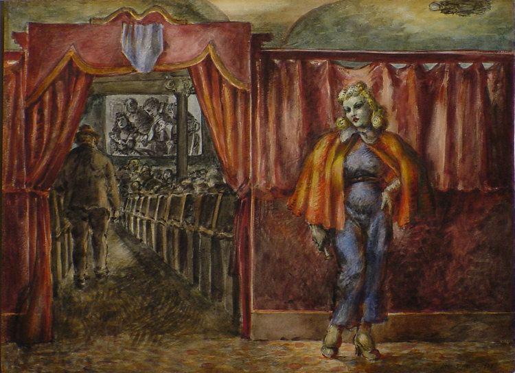 Reginald Marsh (artist) At the Movies Reginald Marsh and Edward Hopper Art Out