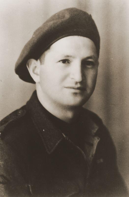 Rehavam Amir Portrait of Palestinian Jewish parachutist Rehavam Amir