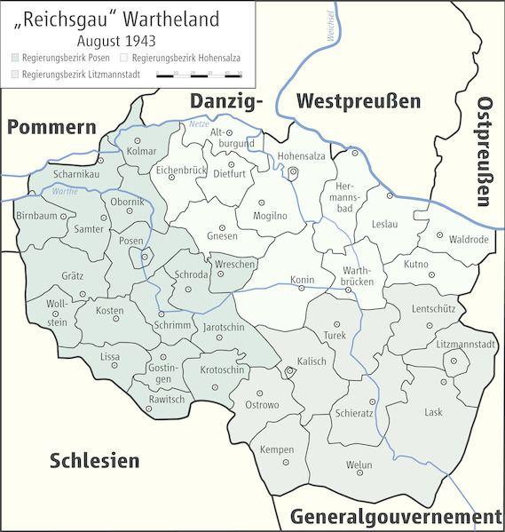 Reichsgau Reichsgau Wartheland OMELexikon Uni Oldenburg