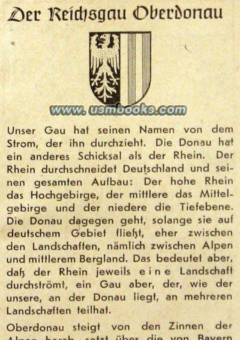 Reichsgau 1943 Book for Evacuees from the Rheinland in Oberdonau