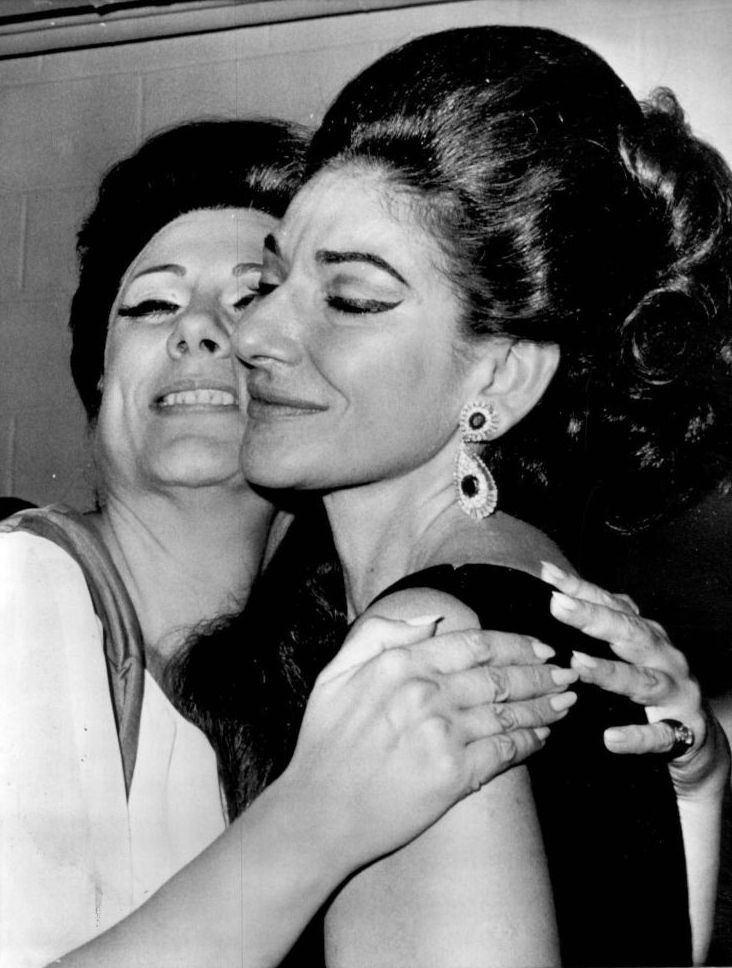 Renata Tebaldi Renata Tebaldi amp Maria Callas September 17 1968 1f