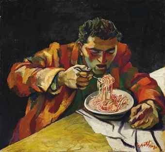 Renato Guttuso Renato Guttuso 19121987 Uomo che mangia gli spaghetti