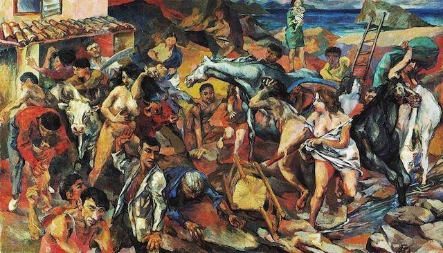 Renato Guttuso Renato Guttuso Fuga dall39Etna 1940 Roma Galleria