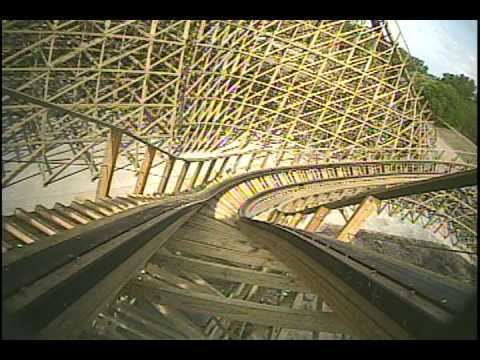 Renegade (roller coaster) Renegade Wooden Roller Coaster Front Seat POV Valleyfair YouTube