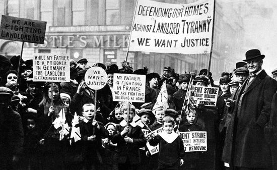 Rent strike Glasgow Rent Strike 100 years Women lead fight for decent housing