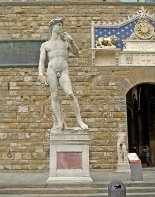 Replicas of Michelangelo's David