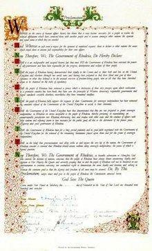 Rhodesia's Unilateral Declaration of Independence httpsuploadwikimediaorgwikipediaenthumb9
