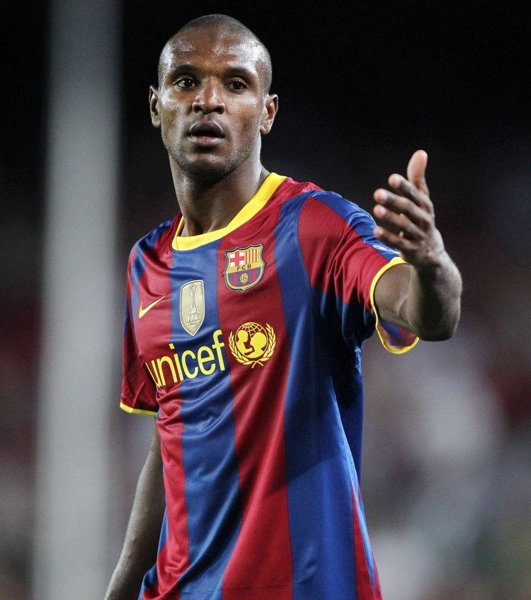 Éric Abidal FC Barcelone Real Madrid Eric Abidal a rejou et a t acclam