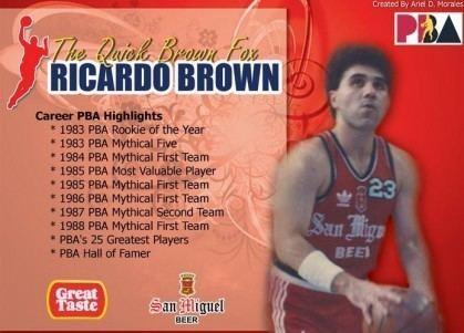 Ricardo Brown (basketball) Biography of Ricardo Brown Page 2 PBA PinoyExchange