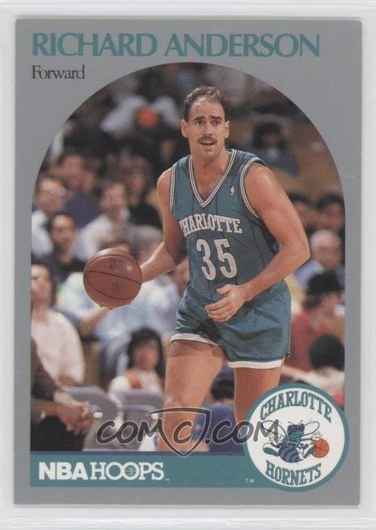 Richard Anderson (basketball) 199091 NBA Hoops Base 49 Richard Anderson COMC Card