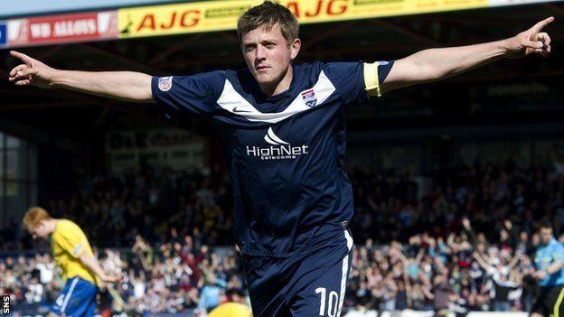 Richard Brittain BBC Sport Ross County captain Richard Brittain extends stay