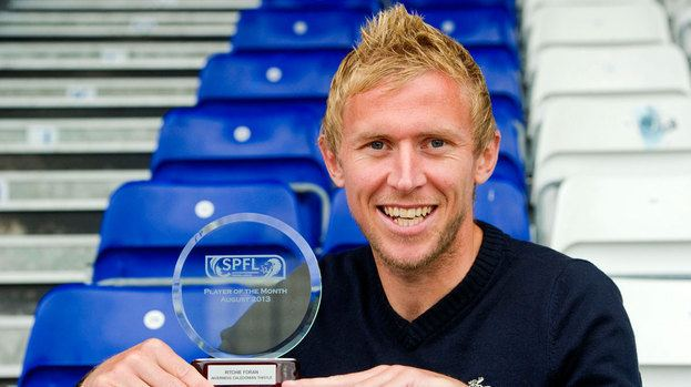 Richie Foran Inverness CT39s Richie Foran wins Player of the Month prize