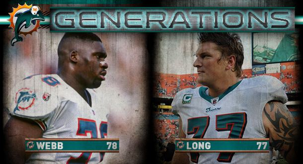 Richmond Webb Dolphins Generations Jake Long And Richmond Webb