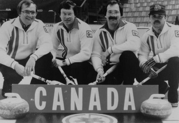 Rick Folk 1980 Rick Folk Curling Team Saskatchewan Sports Hall of Fame