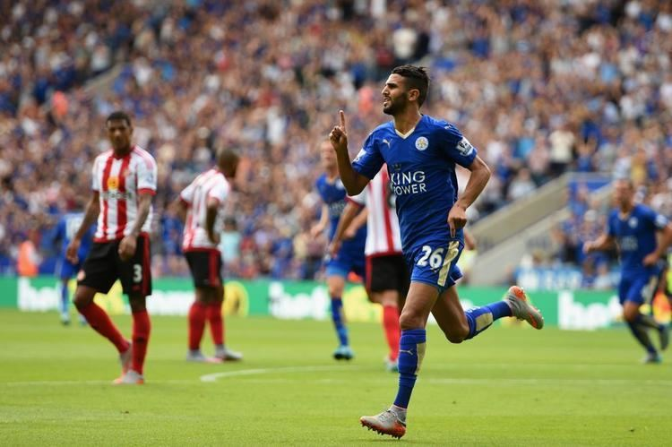 Riyad Mahrez Leicester City 4 Sunderland 2 Riyad Mahrez brace helps