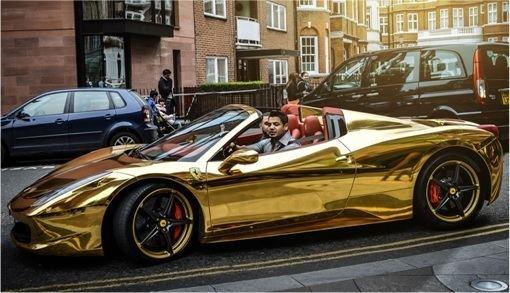 Riyadh Al-Azzawi After Gold Range Rover Here Comes Gold Ferrari
