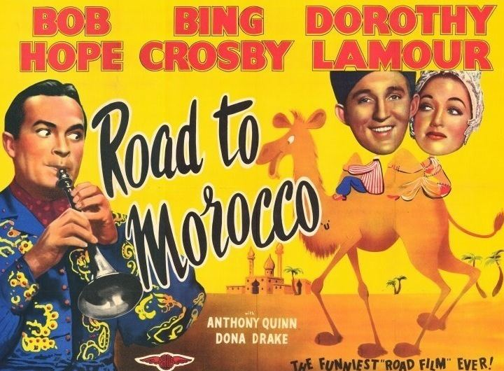 Road to Morocco movie scenes CAST Bing Crosby Jeffrey Peters Bob Hope Turkey Jackson Dorothy Lamour Anthony Quinn Dona Drake Yvonne de Carlo SONGS Road to Morocco Ain t
