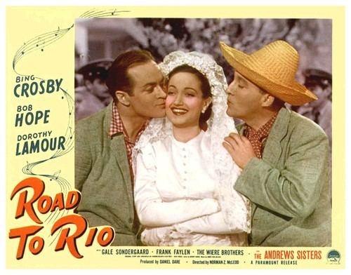 Road to Rio movie scenes Crosby in Road to Rio Road to Rio 1947 500x392 Movie index com
