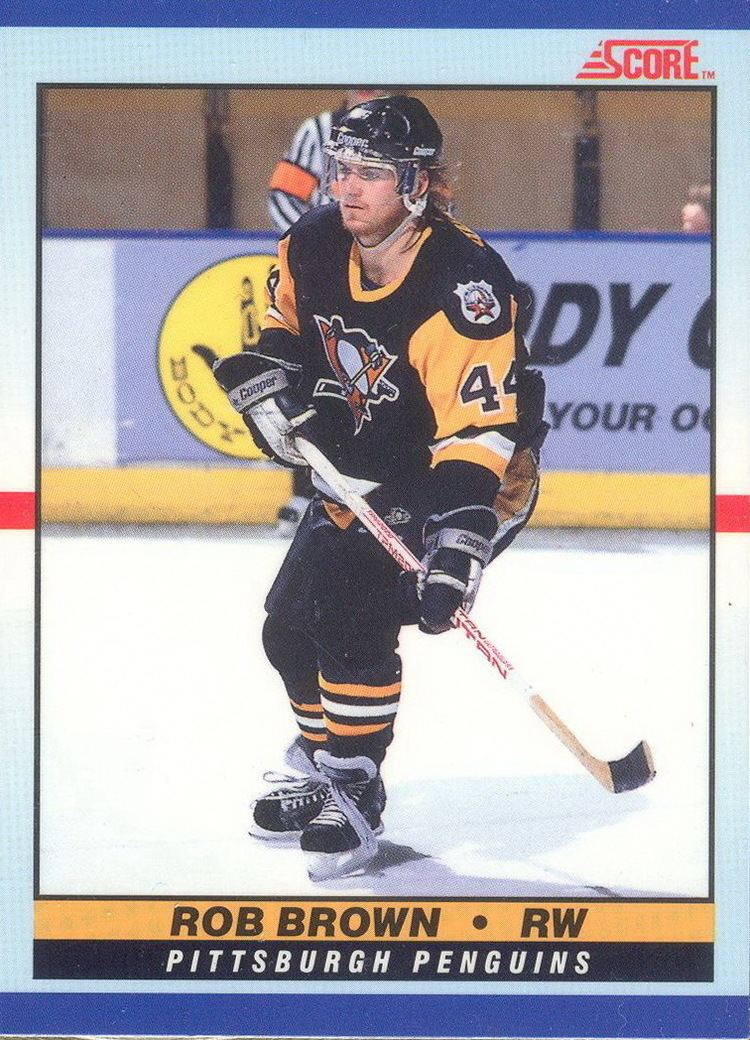 Rob Brown (ice hockey) Rob Brown Players cards since 1988 2016 penguinshockeycardscom