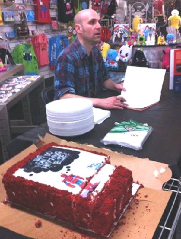 Rob Schrab Rob Schrab cake for Image Comics justJENN recipes justJENN recipes