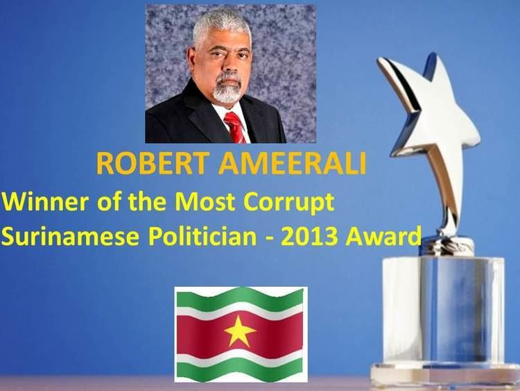 Robert Ameerali Robert Ameerali Wins The Most Corrupt Surinamese