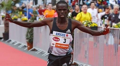 Robert Chemosin Vienna marathon winner Robert Chemosin plans to invest his prize