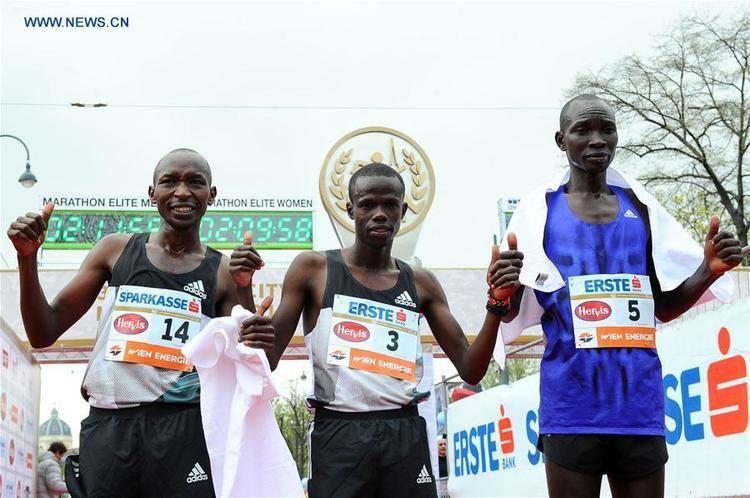 Robert Chemosin Kenyas Chemosin claims title of 33rd Vienna City Marathon Xinhua