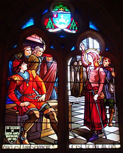 Robert de Baudricourt Joan of Arc Maid of Heaven Stained Glass Window of