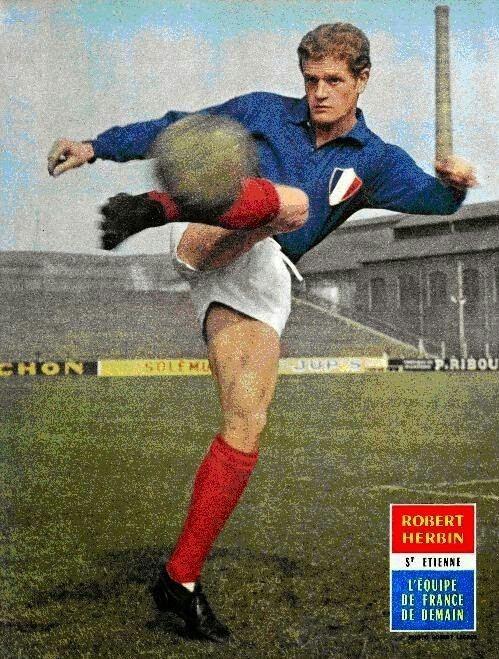 Robert Herbin Robert Herbin of St Etienne France in 1962 cromosfutbol