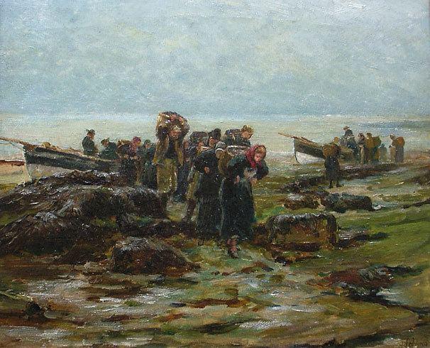 Robert Jobling Robert Jobling 1841 1923 Fisherfolk with the Catch for sale