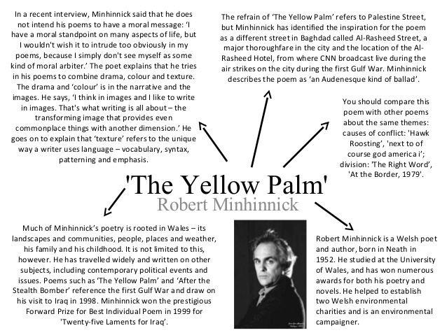 Robert Minhinnick The Yellow Palm by Robert Minhinnick