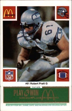Robert Pratt (American football) Robert Pratt Gallery The Trading Card Database