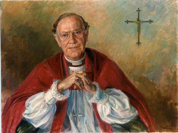 Robert Runcie Religious Leaders painted by June Mendoza