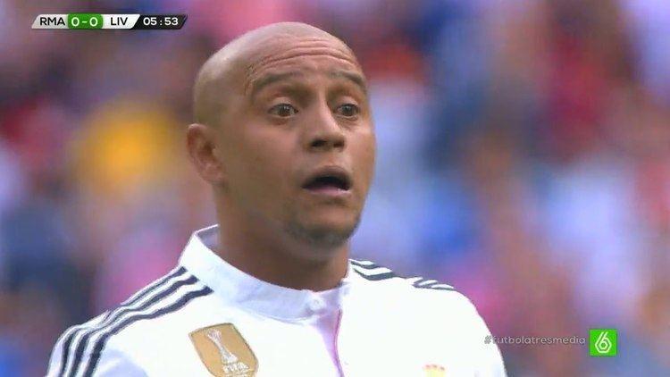 Roberto Carlos Roberto Carlos vs Liverpool Legends Home 14062015 HD 720p YouTube