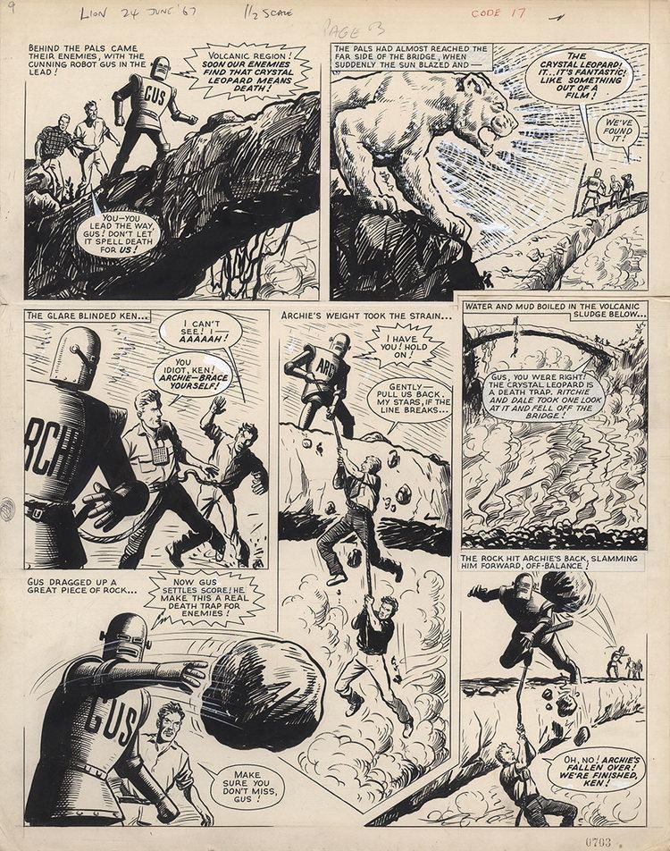 Robot Archie Ted Kearon Comic Art Gallery