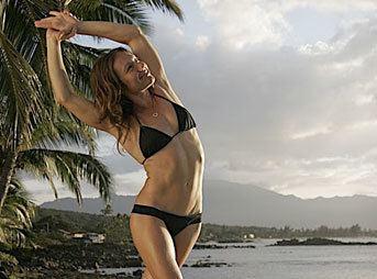 Rochelle Ballard Yoga Health and Surf Tips Session Three Quarter Moon