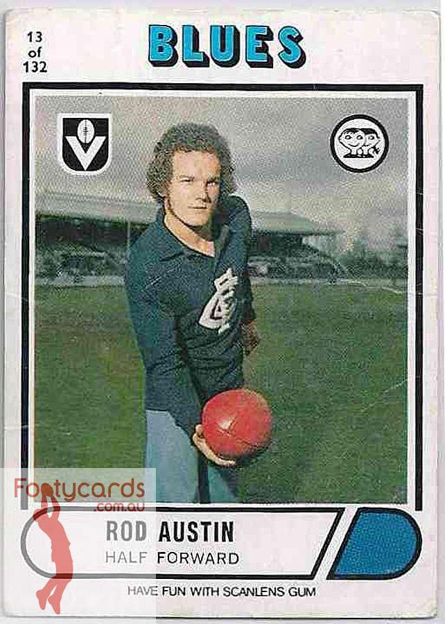 Rod Austin 19911963 1976 VFL Scanlens 1976 VFLAFL Scanlens 013 Rod Austin