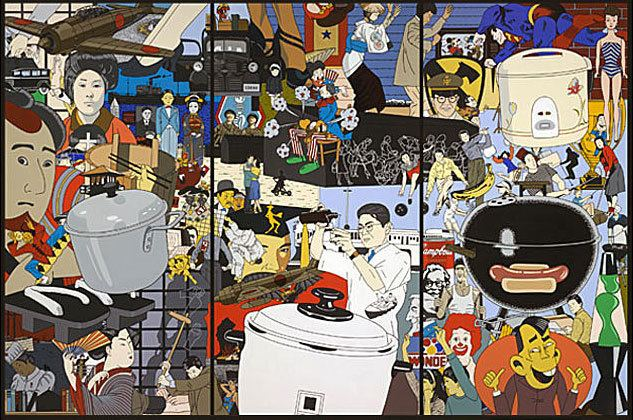Roger Shimomura Roger Shimomura39s Paintings Performance and Sculpture