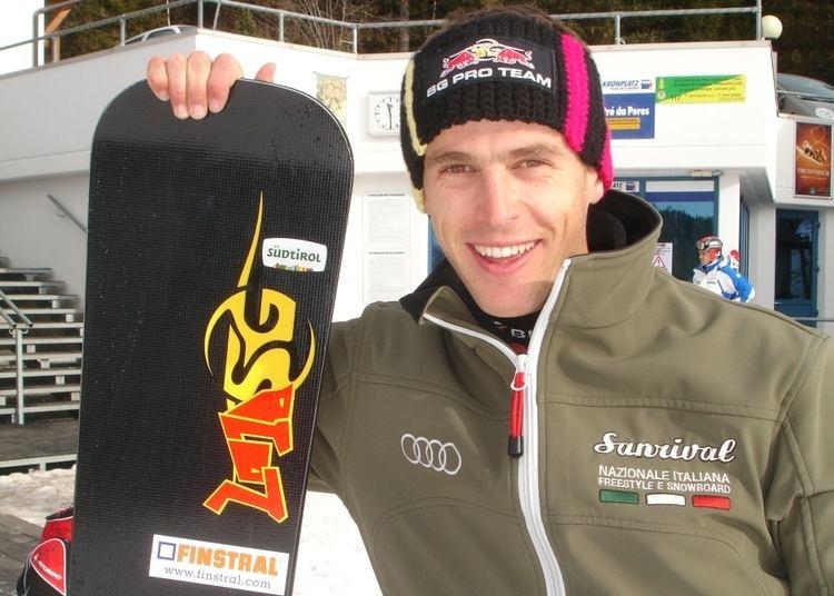 Roland Fischnaller (snowboarder) Snowboarder Roland Fischnaller schrammt am Podium vorbei