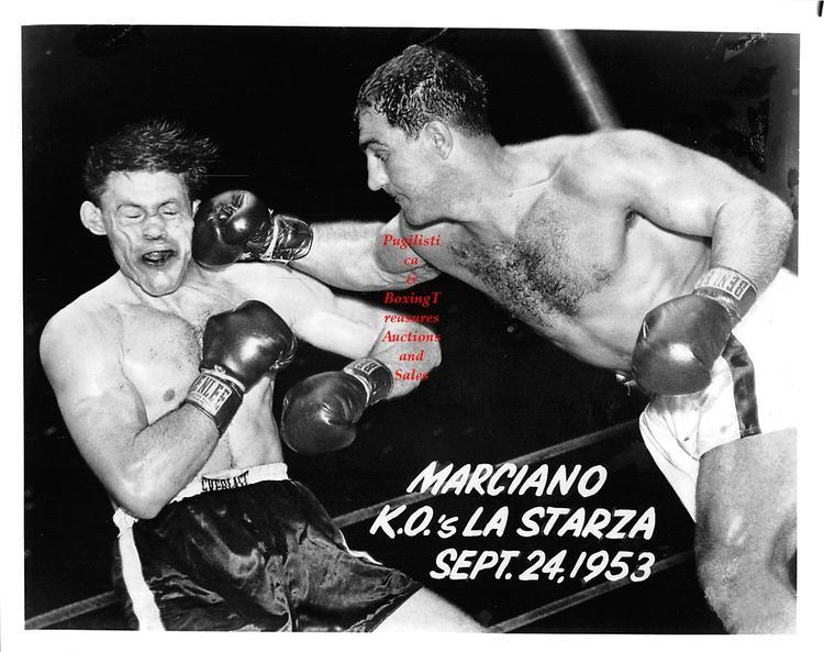 Roland La Starza Boxing Photo 111 Rocky Marciano vs Roland LaStarza