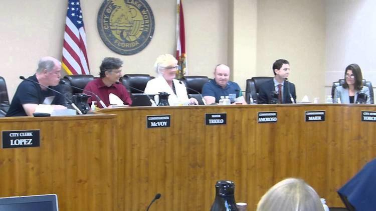 Rolando Silva Lake Worth City Commission Meeting Honoring Captain Rolando Silva